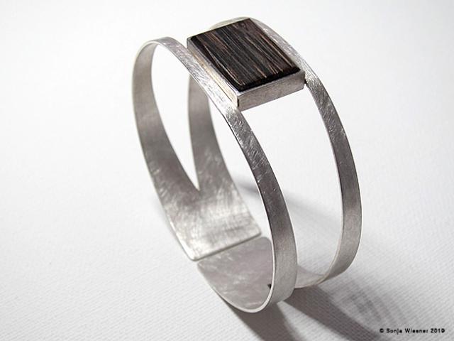 Armschmuck, Wenge, 925/000 Silber
